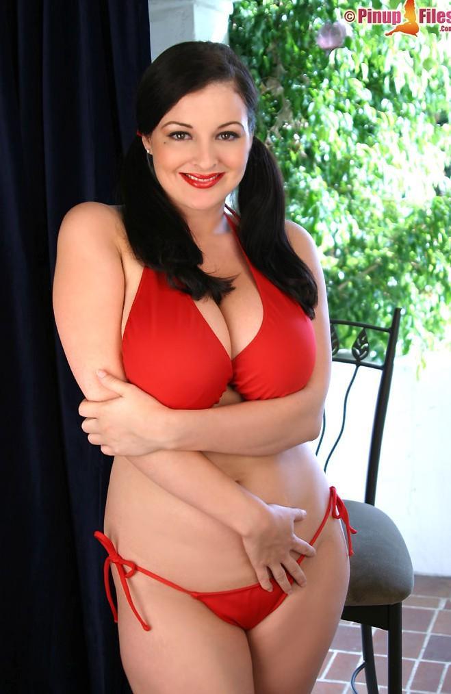 lorna morgan sexy red bikini