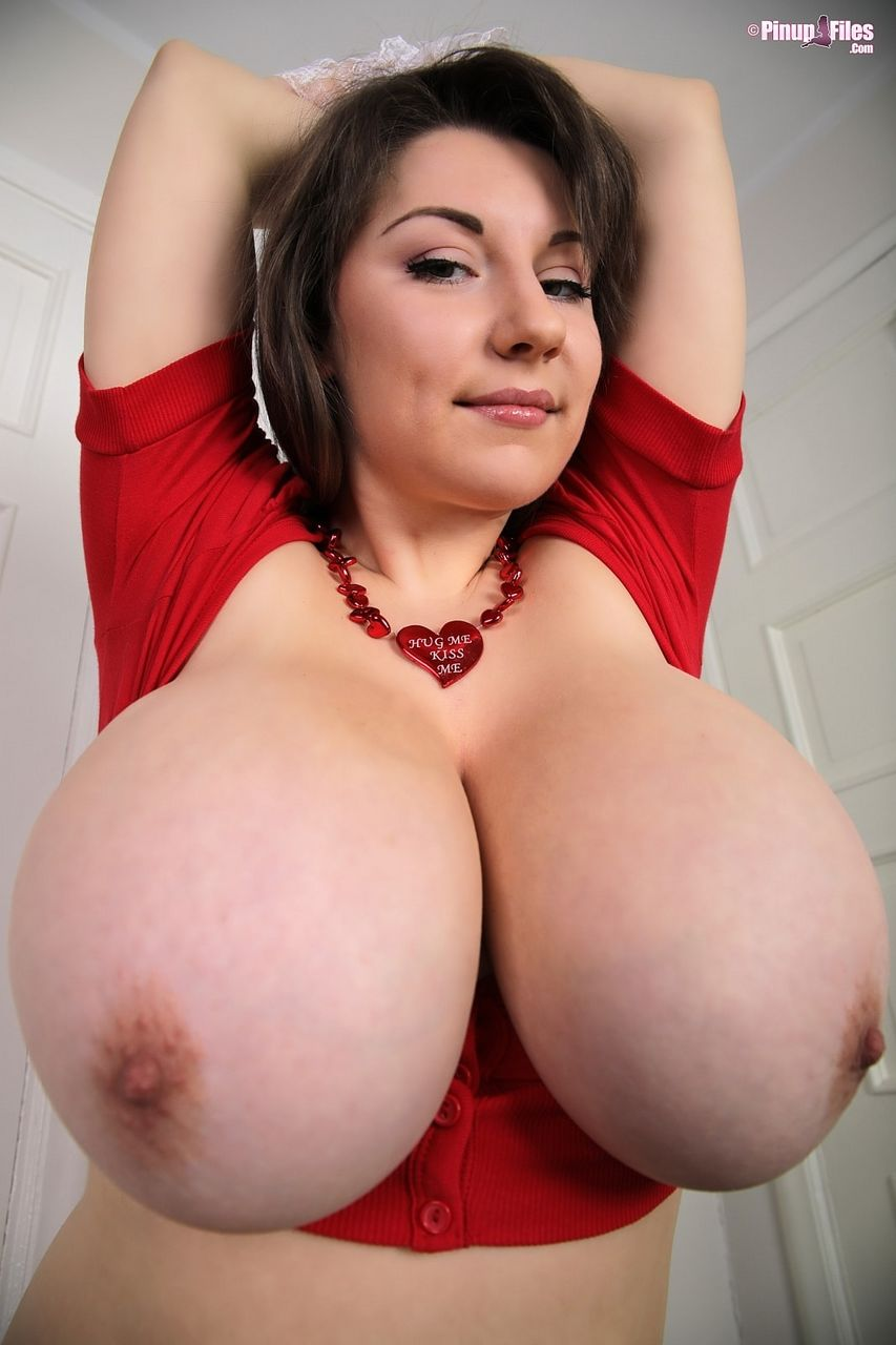 sexy huge natural breast