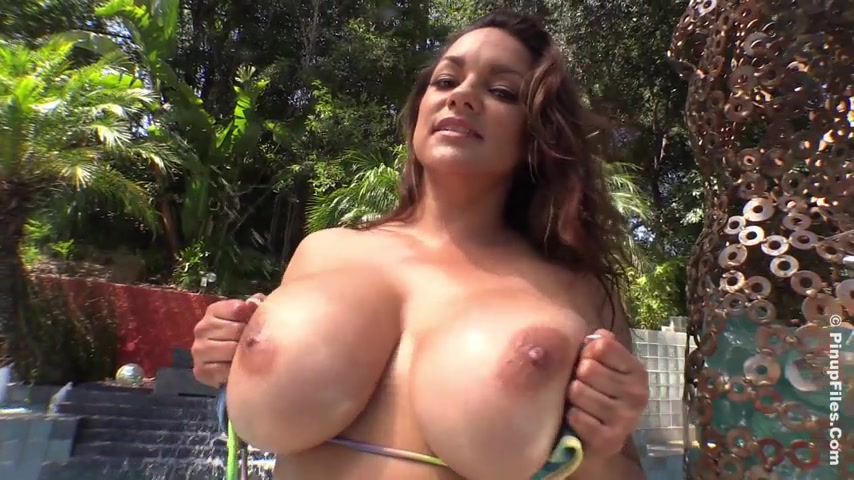 Monica Mendez adult gallery Tie Dye Bikini 2 Trailer